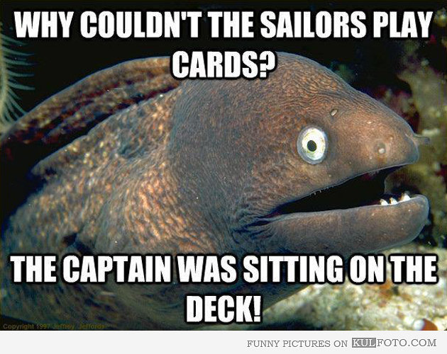 Why couldn't sailors play cards - Hilarious sailing cartoons by Vic Wind App