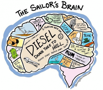 The Sailor's brain - Hilarious sailing cartoons by Vic Wind App