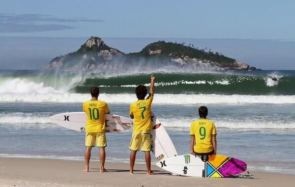 Surf, kitesurf, windsurf and sailing pros talking about the FIFA World Cup 2014