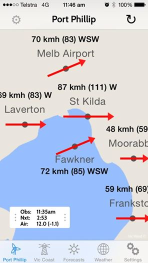 Melbourne Wind Forecast VIC 3000 WillyWeather - induced info
